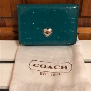 Teal Coach Wallet